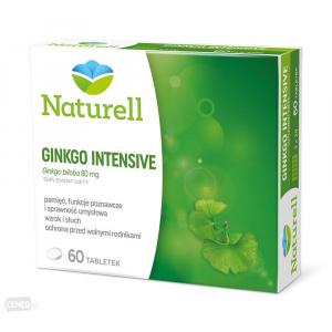 NATURELL, Ginkgo Intensive 80мг, 60 таблеток
