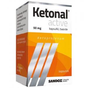 Ketonal Active, Кетонал Актив 50мг , 10 капсул                                  Bestseller