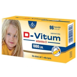 D-Vitum 1000 j.m, витамин D для детей после 1 года, 96 капсул типа twist off        new