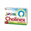Cholinex Junior, малиновый ароматизатор, 4 года, 16 лепешек