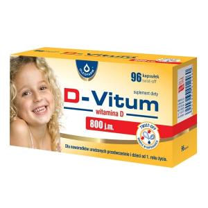 D-Vitum, витамин D для недоношенных детей и в возрасте от 1года, 800 j.m, 96 откручивающих капсул      Bestseller         Выбор фармацевта