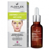 Flos-Lek DermoExpert Anti Acne, нормализующий кислотный пилинг, ночной, 30 мл
