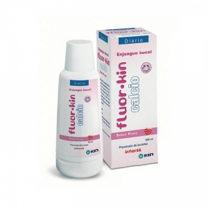 KIN Fluorkin Calcium, жидкость для полоскания рта с клубничным вкусом для детей, 500мл