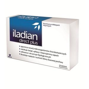 Iladian Direct Plus, Вагинальные таблетки, 10 штук