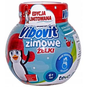 Vibovit Winter Jelly beans,  от 4 лет, фруктовый вкус, 50 штук              NEW